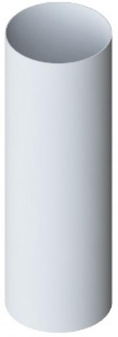 Труба водосточная с муфтой ПВХ, цвет Белый, 4м, d=74 мм