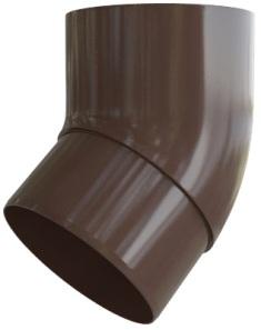 Колено трубы 45° ПВХ, цвет Коричневый