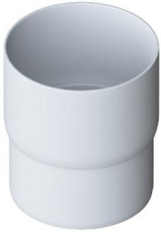 Муфта трубы ПВХ, цвет Белый