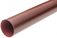 Труба водосточная с муфтой ПВХ, цвет Красный, 4м