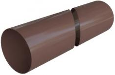 Труба водосточная с муфтой ПВХ, цвет Коричневый