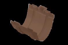 Муфта жёлоба ПВХ, цвет Коричневый